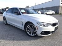 Clean CARFAX. Mineral White Metallic 2015 BMW 4 Series