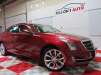 CARFAX One-Owner. Clean CARFAX.Red 2015 Cadillac ATS
