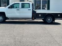 THIS IS A NICE 2015 CHEVY 3500 CREW CAB 4X4 DUALLY
