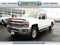 Summit White 2015 Chevrolet Silverado 3500HD LTZ 4WD
