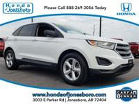 CARFAX One-Owner. Clean CARFAX. White 2015 Ford Edge SE