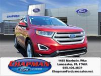 CHAPMAN LANCASTER  .2015 Ford Edge SEL Red EcoBoost