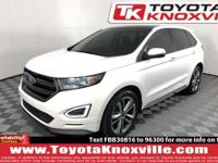 Clean CARFAX. White 2015 Ford Edge Sport FWD 6-Speed