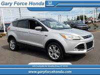 Clean CARFAX. Silver 2015 Ford Escape Titanium AWD