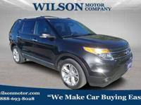 Black 2015 Ford Explorer Limited AWD 6-Speed Automatic