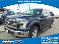 Blue Jeans Metallic 2015 Ford F-150 Lariat Short Box