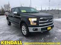 ** 2015 FORD F-150 LARIAT, BLACK LEATHER INTERIOR,