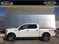 White Platinum Metallic Tri-Coat Ford F-150 Lariat 2015