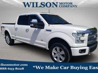 White 2015 Ford F-150 Platinum 4WD 6-Speed Automatic
