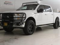 Clean CARFAX. Oxford White 2015 Ford F-150 XLT RWD