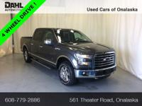 2015 Ford F-150 XLT 4x4 Clean CARFAX. Odometer is 26285