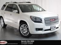 This 2015 GMC Acadia Denali is a One Owner vehicle,