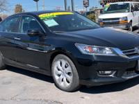 CARFAX One-Owner. Black 2015 Honda Accord EX-L FWD CVT