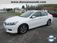2015 Honda Accord LX Sedan, White Orchid Pearl with
