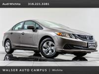 2015 Honda Civic LX, located at Audi Wichita. Original