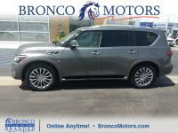 Grey 2015 INFINITI QX80 4WD 7-Speed Automatic 5.6L V8