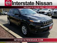 Clean CARFAX. Black 2015 Jeep Cherokee Latitude 4WD