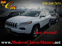 2015 Jeep Cherokee Limited Bright White Clearcoat 4WD