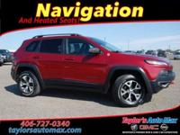 LEATHER INTERIOR, Cherokee Trailhawk, 4D Sport Utility,