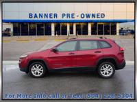 Deep Cherry Red Crystal 2015 Jeep Cherokee Sport 4D
