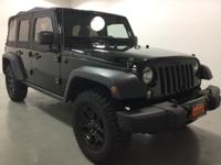 Black Clearcoat 2015 Jeep Wrangler Unlimited Willys