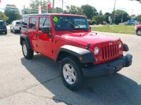Recent Arrival! 2015 Jeep Wrangler Unlimited Sport Red