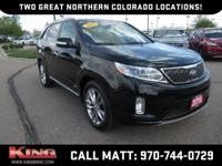 One Low, No Haggle Price!! Ebony Black 2015 Kia Sorento