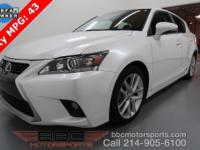 One Owner Lease Return CT 200h. Lexus Premium Audio,