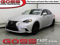 2015 Lexus IS 350 AWD, 6-Speed Automatic Electronic