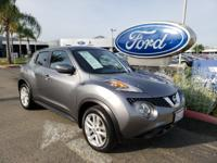 CARFAX One-Owner. Grey 2015 Nissan Juke SV FWD 6-Speed