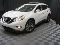 2015 Nissan Murano SL Pearl White NAVIGATION, BLIND