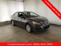 Amethyst Gray 2015 Nissan Sentra SV FWD CVT with