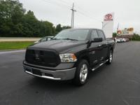 Brilliant Black Crystal Pearlcoat 2015 Ram 1500 SLT 4WD