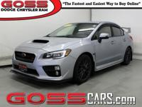 2015 Subaru Impreza WRX STi, AWD, Close-Ratio 6-Speed