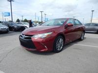 CARFAX One-Owner. Clean CARFAX. Red 2015 Toyota Camry