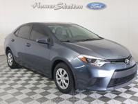Clean CARFAX. Gray 2015 Toyota Corolla L FWD 4-Speed