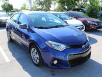 Blue Crush Metallic 2015 Toyota Corolla S FWD CVT 1.8L