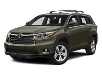 2015 Toyota Highlander AWD 6-Speed Automatic Electronic