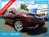 Red 2016 Acura RDX AWD w/Technology Package AWD 6-Speed