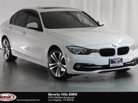 This 2016 BMW 328i is a One Owner vehicle, Alpine white