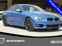 Estoril Blue Metallic 2016 BMW 4 Series AWD with only