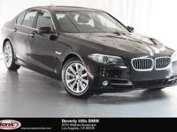 This 2016 BMW 528i is a One Owner vehicle, Jet Black