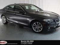 This 2016 BMW 535i has a Clean Carfax, Dark graphite