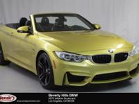 This 2016 BMW M4 Convertible is a One Owner vehicle