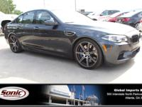 Boasts 20 Highway MPG and 14 City MPG! This BMW M5
