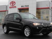 2016 BMW X3 xDriver 28i in Black. 2.0L I4 TwinPower