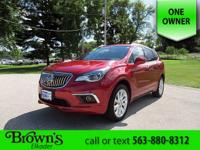 This Buick Envision is equipped with power front seats,