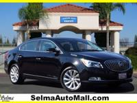 Clean CARFAX. Black 2016 Buick LaCrosse Leather Group