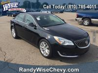 Black Onyx 2016 Buick Regal Turbo FWD 6-Speed Automatic