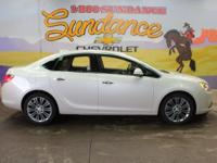 White Diamond Tricoat 2016 Buick Verano Leather Group